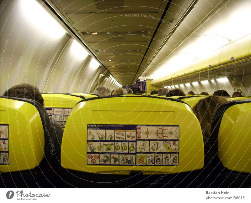 on the plane Airplane Passenger Jet Aviation Aircraft Passenger plane Airport safety advice safety information ryanair Boeing 737 Seating Logistics