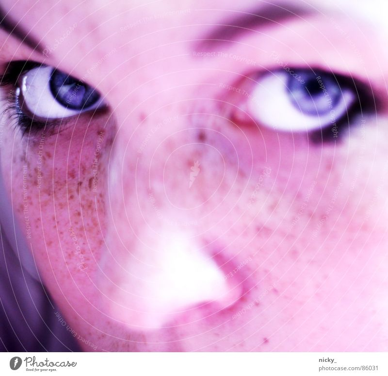 Woman Face Black Nose Freckles