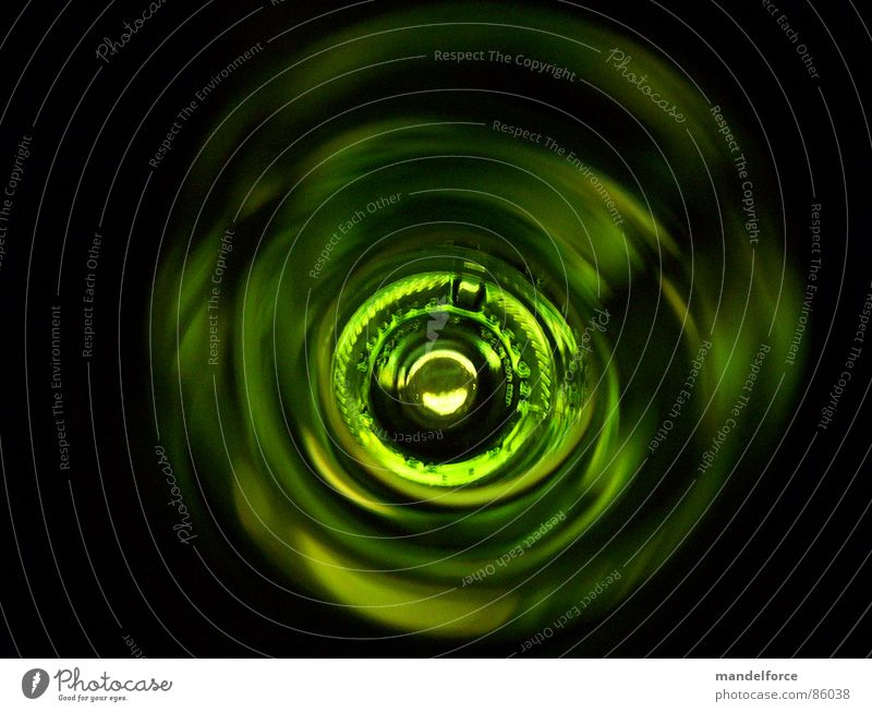 Green Glass Drinking Tunnel Obscure Bottle Alcoholic drinks Bottle of wine Neck of a bottle Tunnel vision Shortage