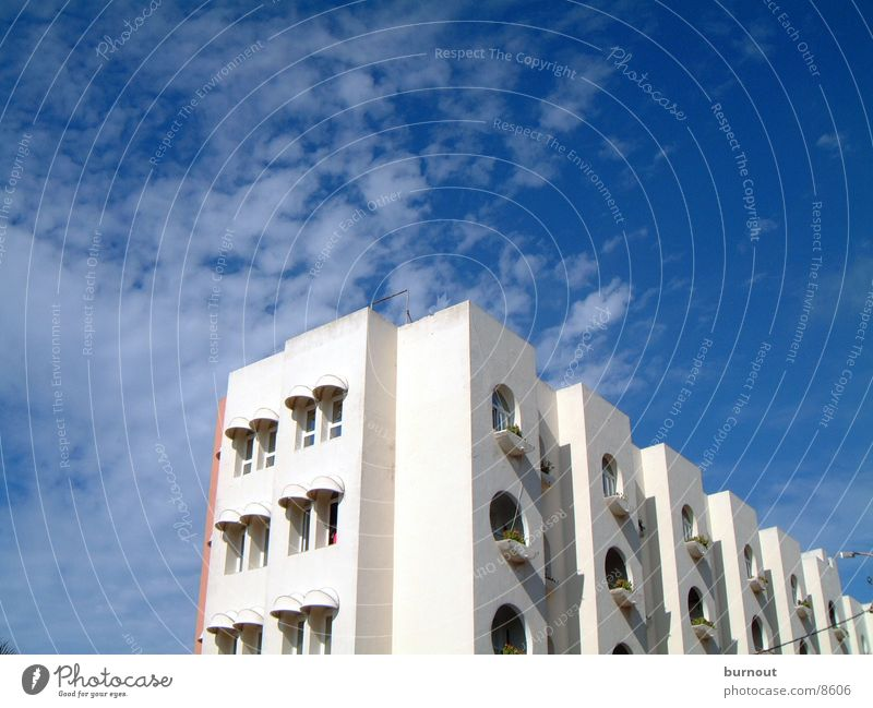 Sky Blue House (Residential Structure) Clouds Architecture High-rise Morocco Casablanca