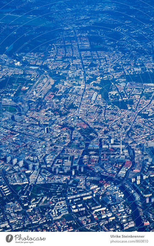 City Street Lanes & trails Building Berlin Flying Germany Modern Aviation Transport High-rise Perspective Places Planning Discover Under