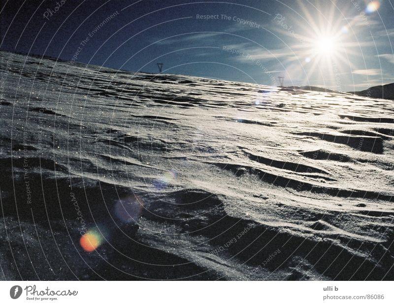 backlight Snow shoes Cold Italy Sanddrift Hiking Back-light Natural phenomenon Sunrise Mountain Star (Symbol) Nature Stars