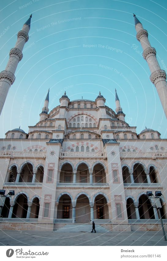 disassociated Architecture adana Turkey Asia Town Capital city Downtown Populated Overpopulated Tower Manmade structures Building Mosque Facade Window