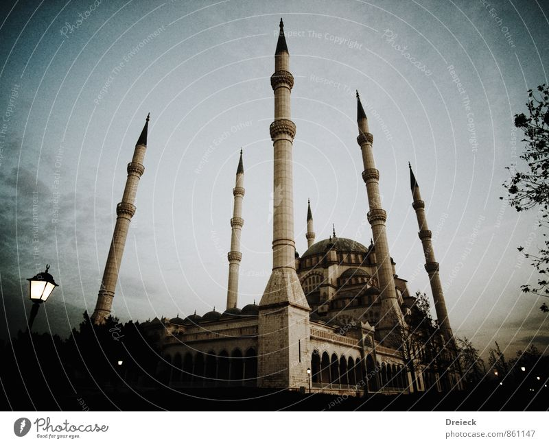 mosque Architecture adana Turkey Anatolia Asia Near and Middle East Town Capital city Downtown Manmade structures Building Mosque Minaret Domed roof