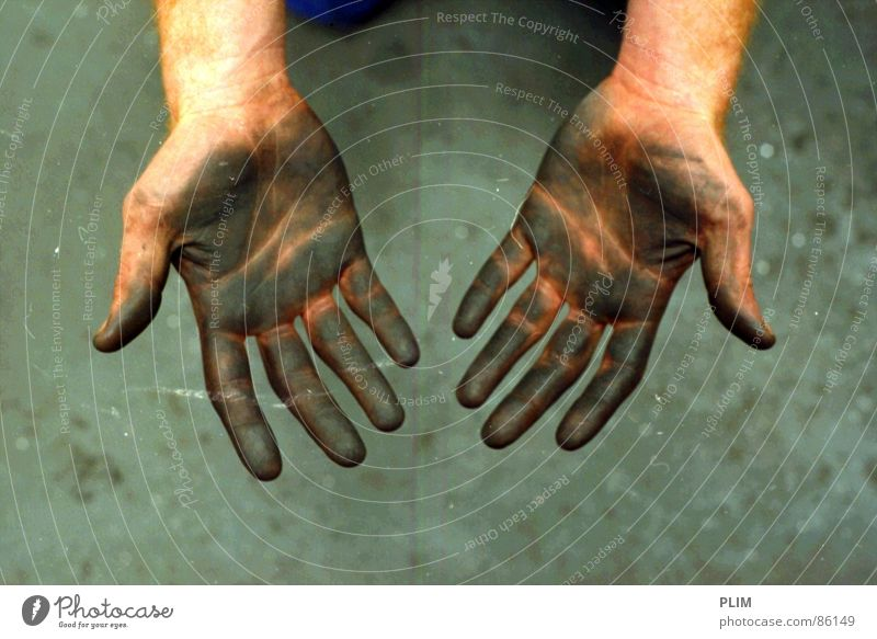 Hand Work and employment 2 Dirty Fingers Industry Mining Workshop Mine Proletarian Soft coal mining Toolbox Masonry Craftsman Repair center