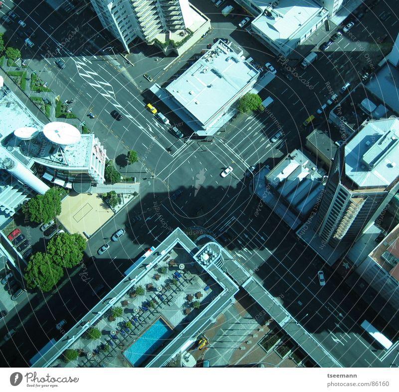 City Street Car High-rise Transport Traffic infrastructure Crossroads New Zealand Auckland