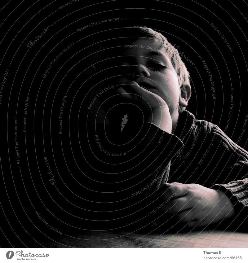 Child Hand Black Dark Boy (child) Head Sadness Think Bright Lighting Arm Gloomy Fatigue Boredom Feeble Minimal