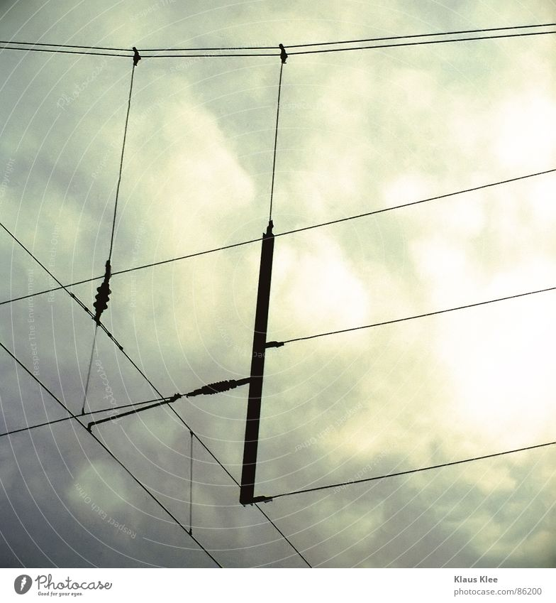 Sky Black Line Electricity Corner Cable Technology Overhead line Electrical equipment Altocumulus Railroad system