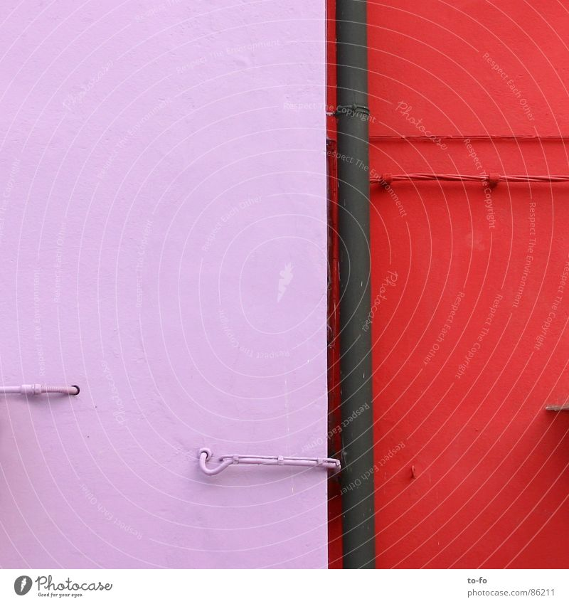 colour composition Colour tone Burano Facade House (Residential Structure) Wall (building) Paintwork Detail disharmony