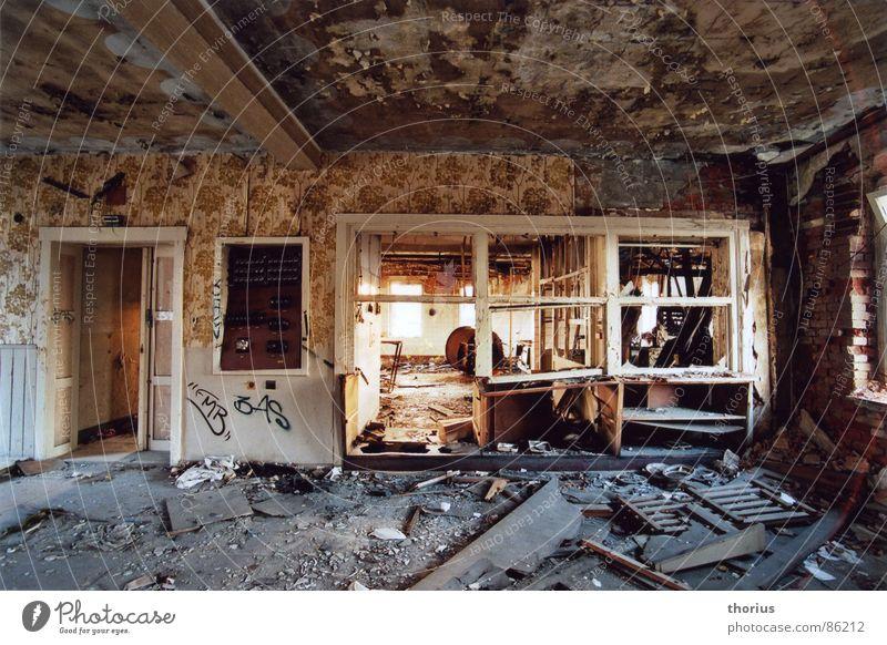 Industry Kitchen Putrefy Derelict Decline Shabby Destruction Vandalism Devastated Descend Industrial wasteland Kitchen furniture