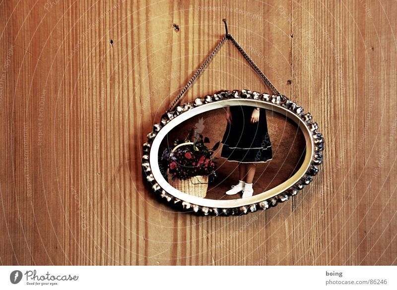 Child Girl Flower Fairy tale Photography Dress Clean Trust Skirt Basket Wall panelling Picture frame Frame Wood panelling