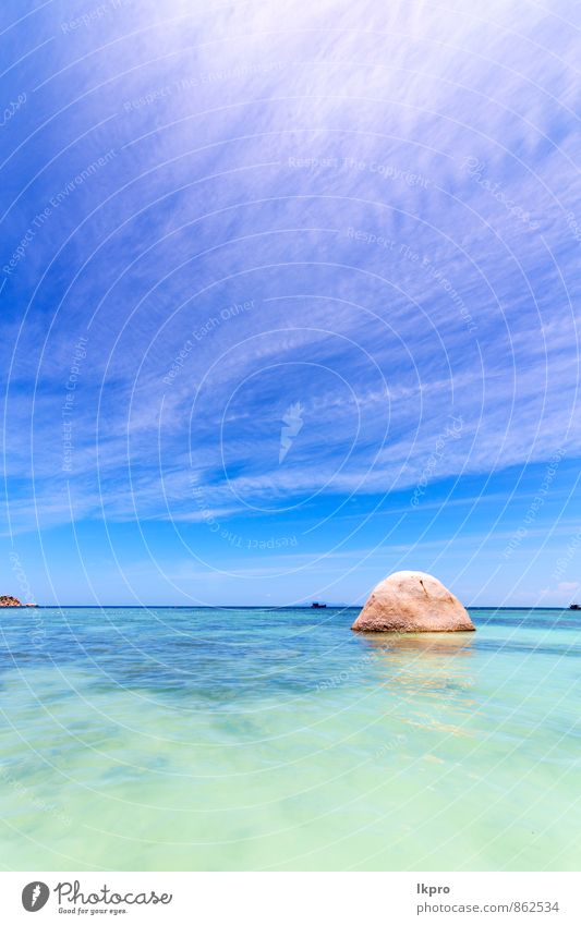 thailand kho tao bay isle white Sky Nature Vacation & Travel Blue Summer Water Sun Relaxation Landscape Calm Clouds Beach Yellow Coast Stone Rock