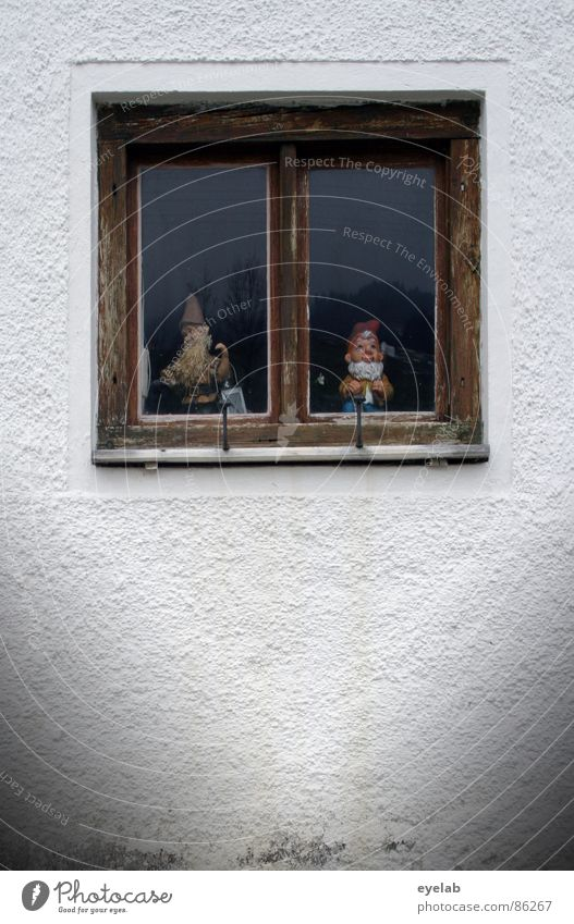 Joy Loneliness Wall (building) Window Wood Sadness Germany Together Wait Glass Grief Decoration Kitsch Derelict Vantage point Obscure