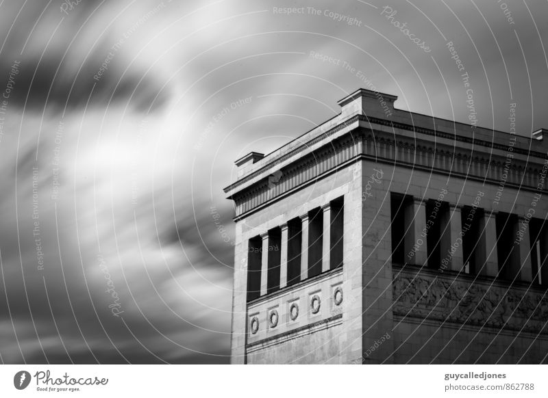 king's square Sky Clouds Spring Summer Autumn Winter Wind Munich Bavaria Europe Places Tower Building Architecture Tourist Attraction Königsplatz Esthetic