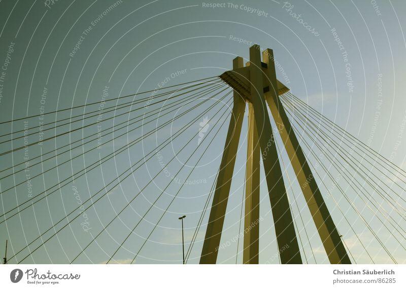 Pylons Bridge Ludwigshafen Golden Gate Bridge keyword blackout Lantern Steel cables Picture36 photocase Sky soon