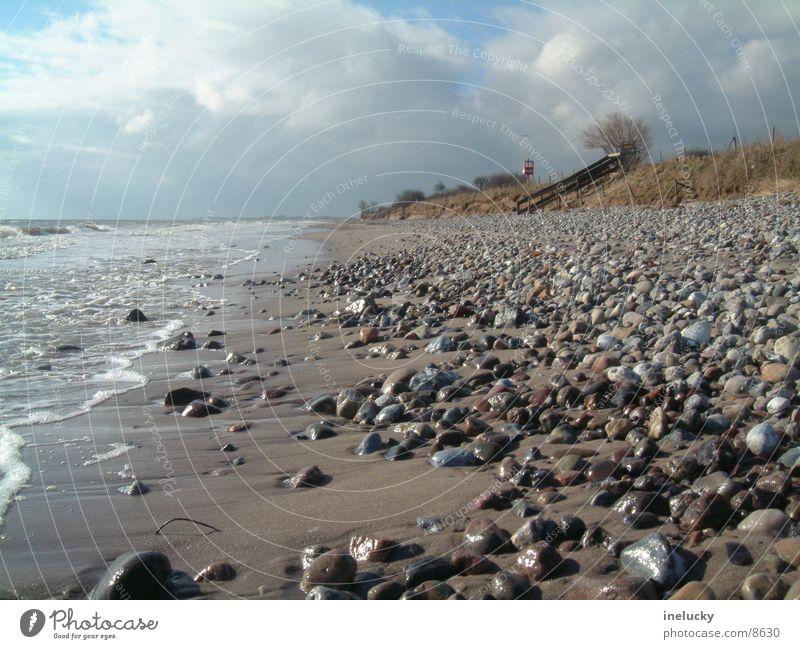 sandy beach Ocean Beach Low tide Stone Sand dlg stones ebb