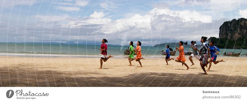 Ocean Group Power Walking Running Multiple Target Asia Fitness Sporting event Escape Runner Thailand Jogging Endurance Haste