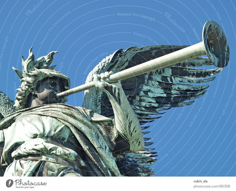 Germany Success Angel Might Peace Statue Fat Monument Watchfulness War Sculpture Landmark Cup (trophy) Loud Tin Rhine