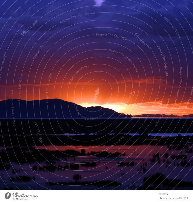 Water Sky Sun Calm Lake Bolivia Wake up South America Peru Titicaca lake
