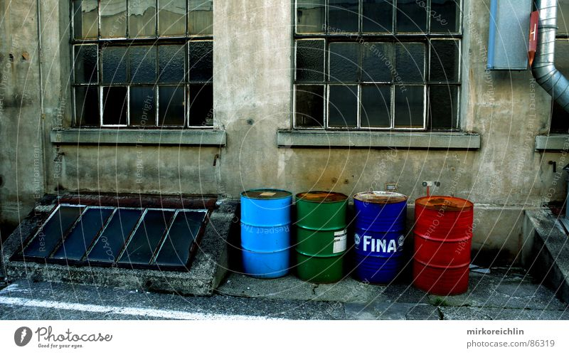 Green Red Death Window Industry New Dangerous Factory Threat Trash 4 Fluid Commerce Trash container Work of art Keg