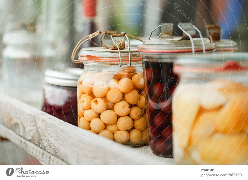 preserves Food Fruit Dessert Preserving jar Supply Nutrition Organic produce Vegetarian diet Vitamin Fresh Healthy Delicious Natural Colour photo Deserted Day