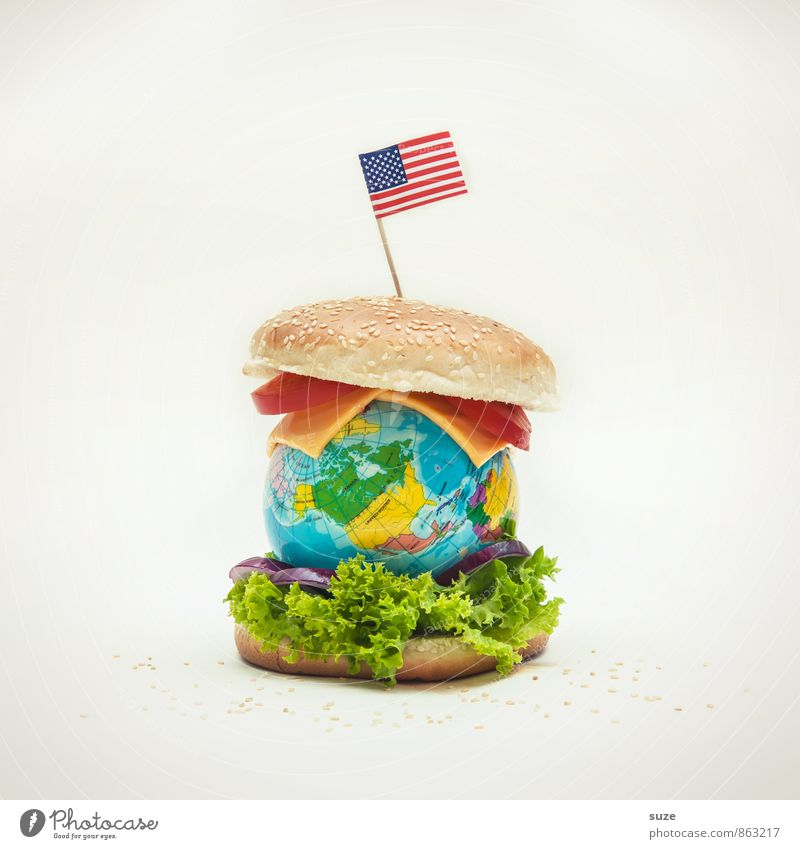 earth burger Food Cheese Lettuce Salad Nutrition Fast food Lifestyle Earth Flag Globe Exceptional Infinity Funny Original Appetite Gluttony Voracious