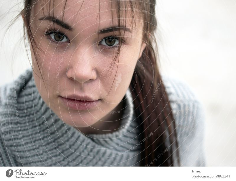 Human being Youth (Young adults) Beautiful Young woman 18 - 30 years Adults Life Feminine Dream Esthetic Uniqueness Curiosity Trust Watchfulness Brunette