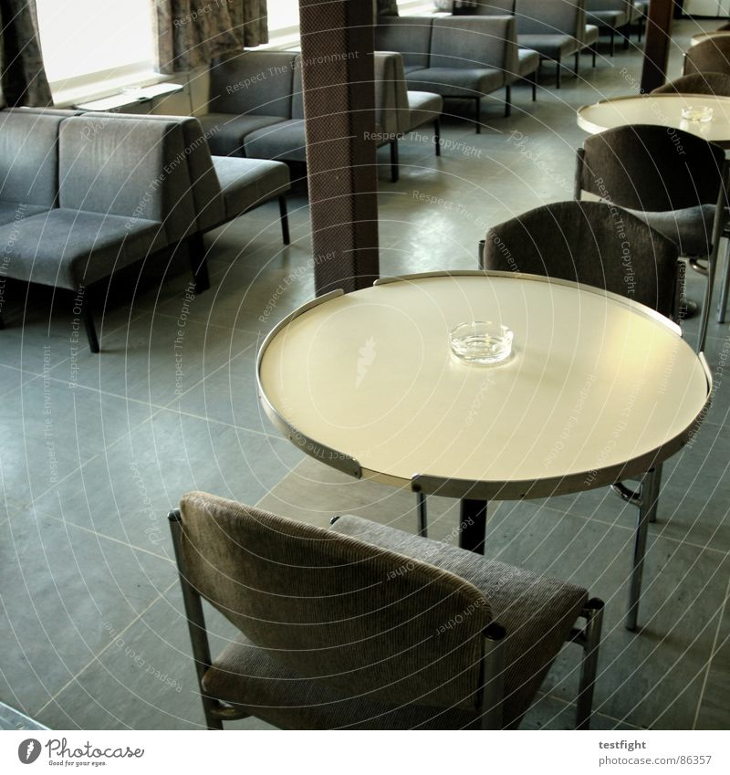 Gray Brown Watercraft Table Chair Bench Smoking Navigation Seating Banquet Seventies Ferry Drop anchor Old fashioned The eighties Laminate