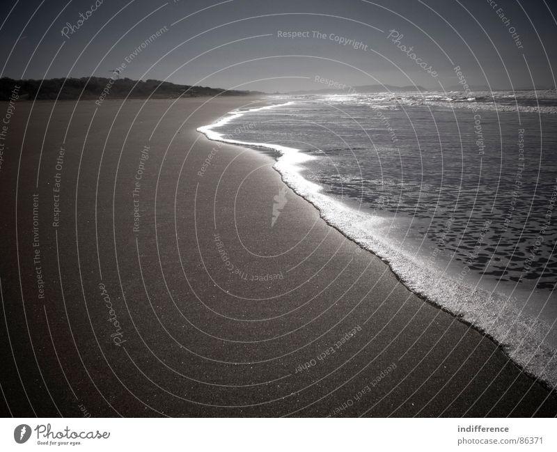 Water Sky Ocean Beach Sand Italy Sepia
