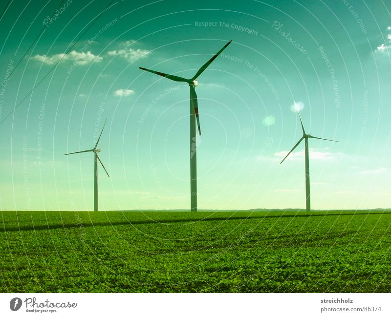 Green Far-off places Meadow Grass Hope Lawn Wind energy plant Quality Optimism Wide Size Resign Glade Range Renewable energy Span