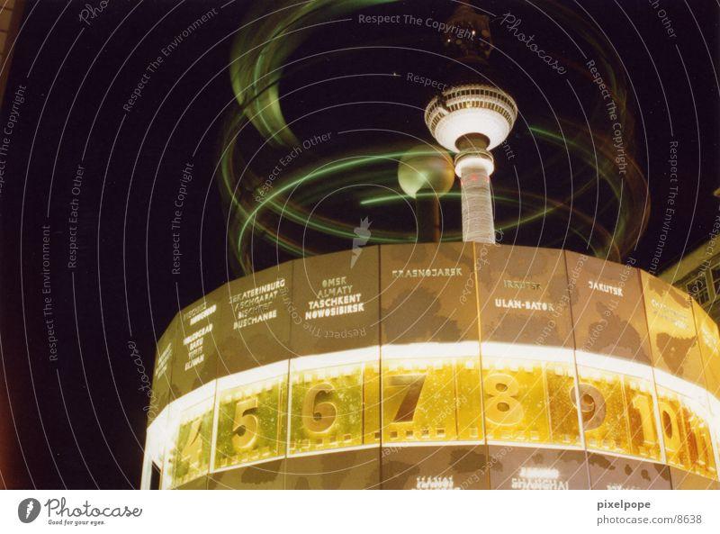 Berlin Architecture Places Tower Clock Berlin TV Tower Alexanderplatz World time clock