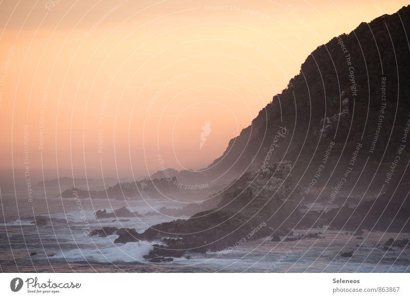 Nature Vacation & Travel Summer Sun Ocean Landscape Beach Far-off places Environment Mountain Coast Natural Freedom Rock Horizon Waves