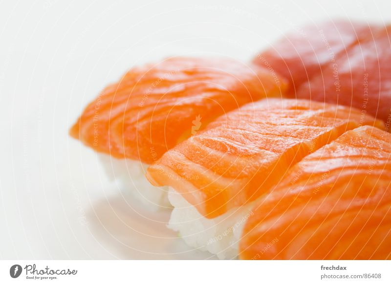 impudently Sushi Delicious Raw Cut Red Fresh Nutrition Macro (Extreme close-up) Close-up Exotic Structures and shapes Protein Fish Delicacy Food photograph