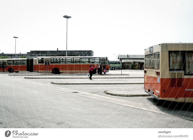 waiting Rijeka Bus stop Tar Asphalt Vehicle Driving In transit South Mediterranean Homesickness Wanderlust Loneliness Town Doomed Human being Train station
