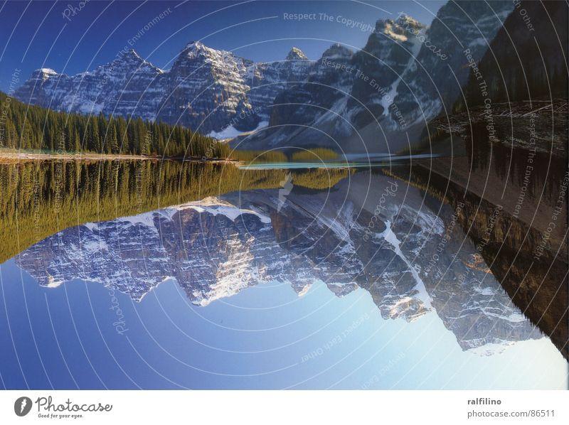 Summer Calm Mountain Lake Landscape Fantastic Canada National Park