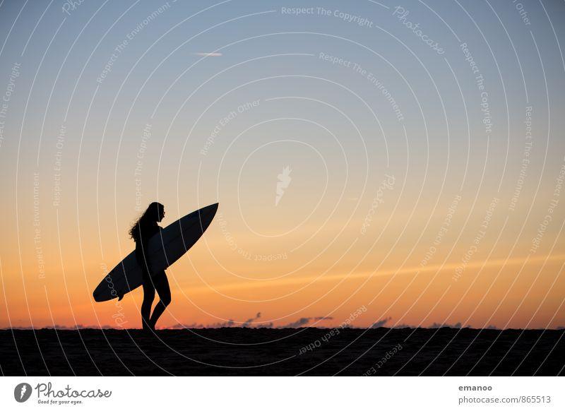 surfer girl Lifestyle Style Joy Vacation & Travel Freedom Summer Summer vacation Beach Ocean Waves Sports Aquatics Human being Feminine Young woman