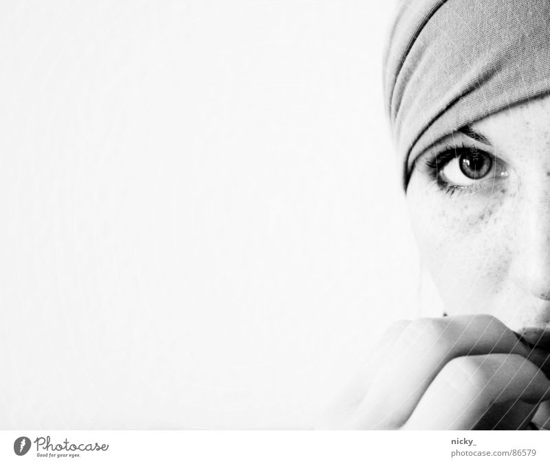 Woman Hand Face Black Loneliness Fear Nose Fingers Clarity Rag
