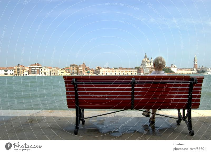 Venezia wundaba South Countries Historic Things Italy Woman Wall (barrier) Think Top Sky Domed roof Dark Beautiful Memory Longing Homesickness