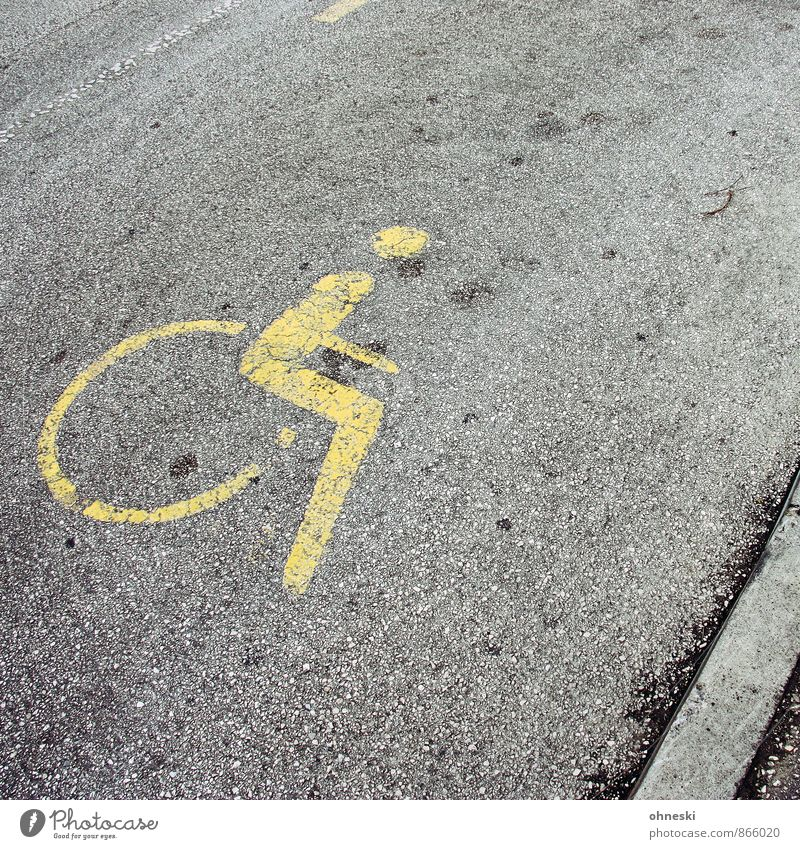 Street Healthy Health care Signs and labeling Parking lot Road traffic Handicapped Road sign Wheelchair Disability friendly