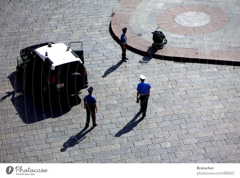 Papers, please. Police car Criminality Police Officer Places Terrorism Police prisoner transportation Mistrust Police state Marketplace Stage Skeptical