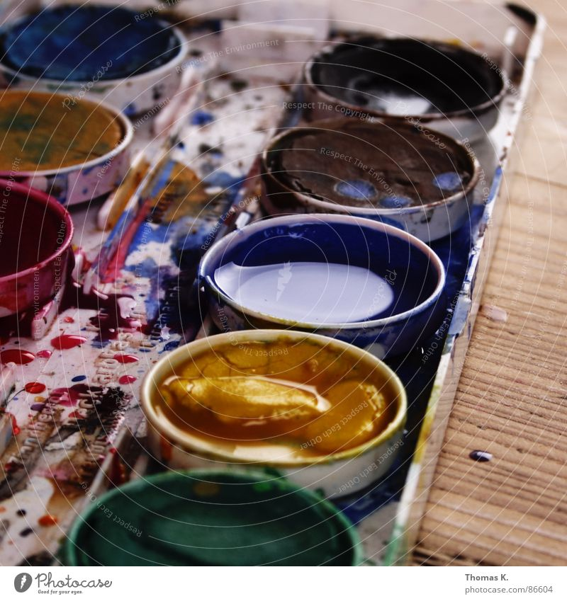 Colour Emotions Wood Style Art Line Rope Table Creativity Painting and drawing (object) Draw Facial expression Oil Paintbrush Soul Vessel