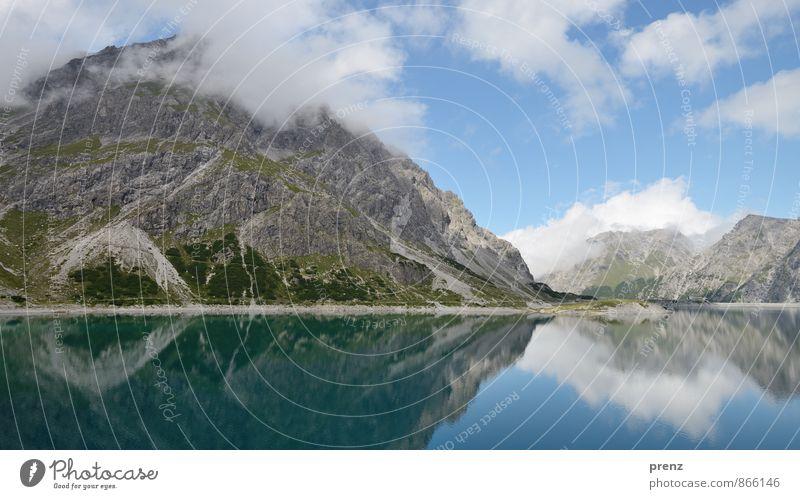 Sky Nature Blue Landscape Clouds Environment Mountain Gray Lake Beautiful weather Peak Alps Austria