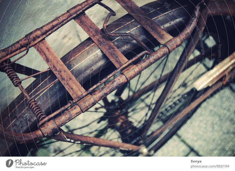 Old Street Brown Metal Bicycle Retro Rust