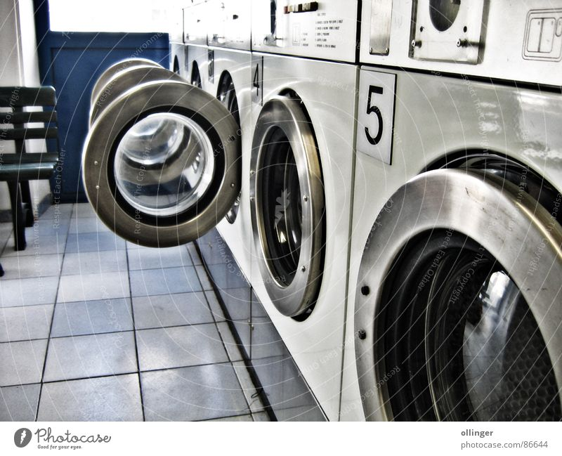 At the saloon Laundromat Washer Living room Soft Machinery Hatch Laundry Electrical equipment Technology Door washing establishment Washing Washing day