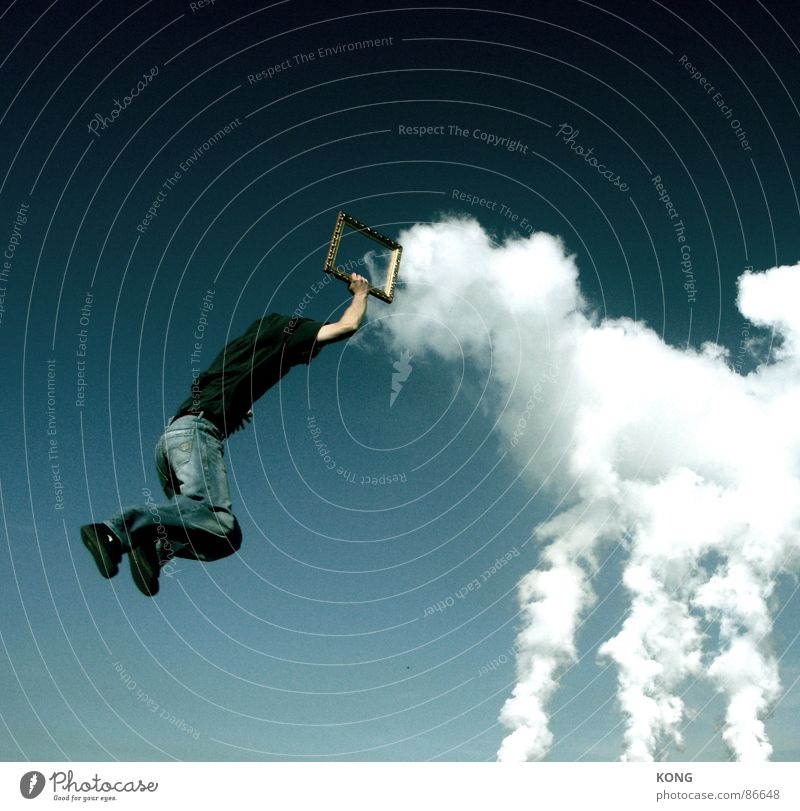clouds frame Downward Clouds Picture frame Sky blue Jump Airplane Easygoing Joy Power Force Frame Aviation Flying fly flight Throw Upward up in the frame