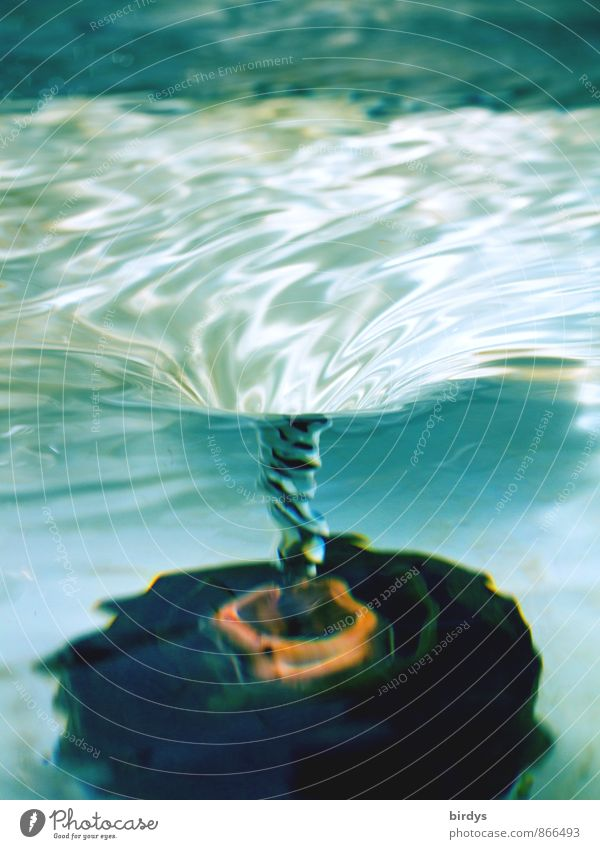 Water Movement Exceptional Esthetic Drinking water Fantastic Wet Pure Fluid Turquoise Transparent Positive Rotate Spiral Rotate Rotation