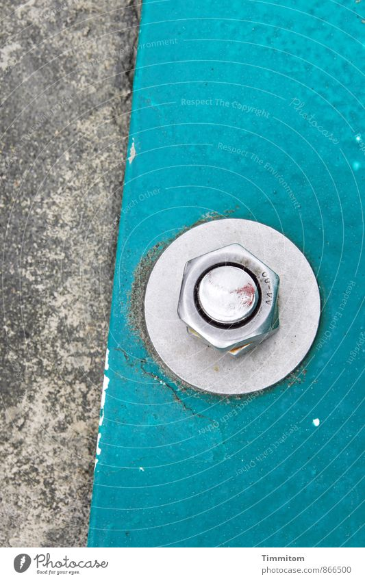 Gray Line Metal Esthetic Concrete Circle Simple Clean Firm Turquoise Silver Screw Nut