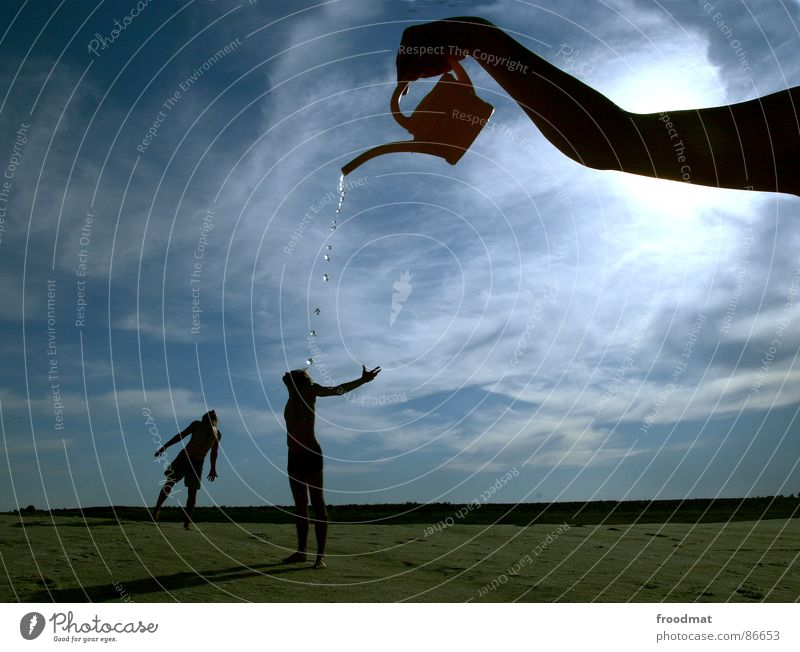 Water Sky Sun Summer Warmth Arm Physics Surrealism Inject Mining Jug Watering can Seasons Shadow Take a shower