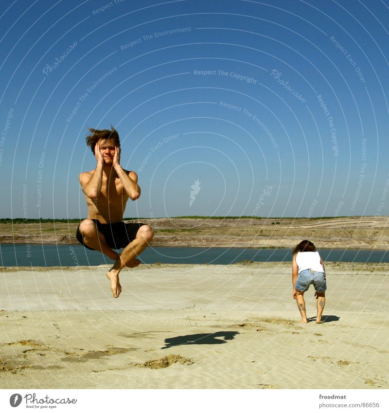 Water Sky Summer Warmth Funny Flying Back Physics Swimming & Bathing Square Stupid Hover Mining Sit Cross Legged