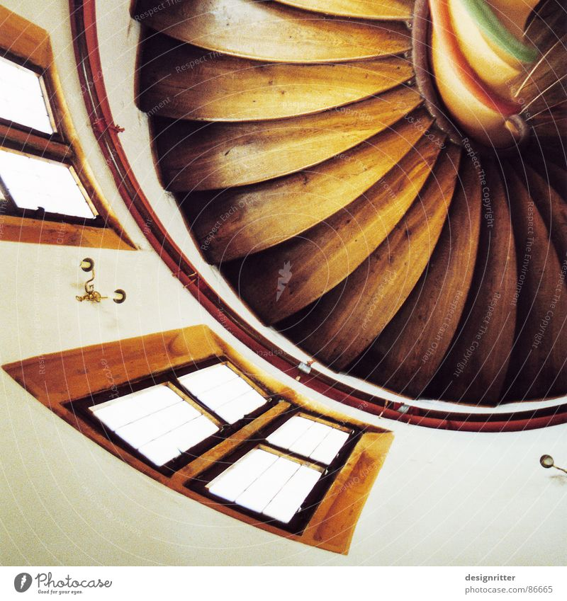 Window Wood Stairs Tower Castle Staircase (Hallway) Bend Whorl Wood flour Winding staircase